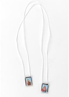 Escapulário cordão branco