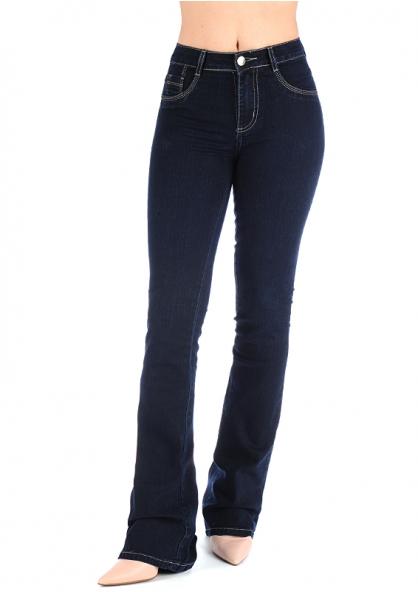 Sawary Boot Cut Stretch Jeans - Dark Blue