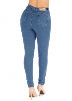 Sawary Skinny Jeans with Removable Butt Pad -  Blue