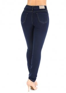 Sawary Calça Jeans Super Lipo Cintura Alta - Com Cinta Interna - Azul Escuro