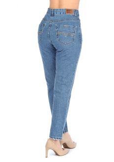 Zune Fashion Traditional Boyfriend Style Jeans - Blue