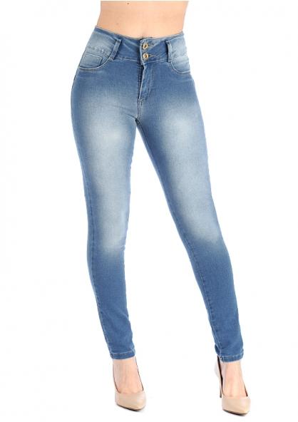 Sawary High Waist  Skinny Jeans With Lycra - Blue