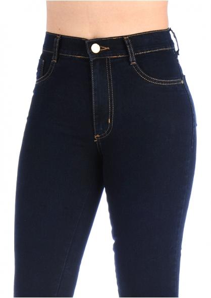 Sawary Boot-cut High Waist Jeans - Dark Blue