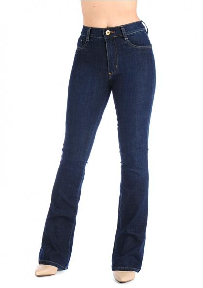Sawary Boot-cut High Waist Jeans - Indigo Blue