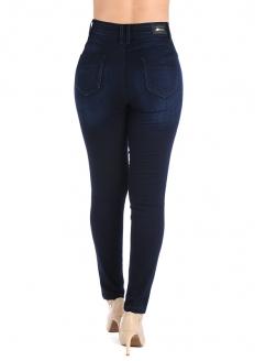 Sawary High Rise Skinny Denim Pants - Dark Blue