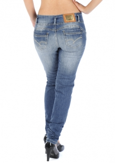 Sawary Crushed Skinny Jeans with Butt Pad