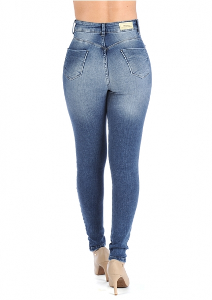 Sawary Super Lipo Skinny Pants with Inner Cinther - Blue