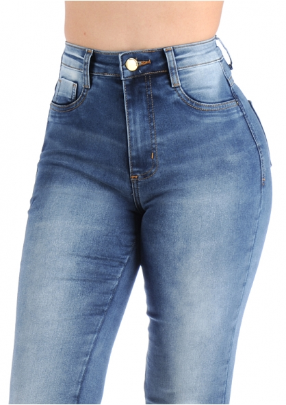 Sawary Super Lipo Flare Hem Pants with Inner Cinther - Blue