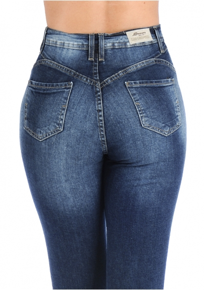 Sawary Stretch Skinny Pants with Inner Cinther 360 - Dark Blue