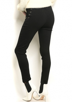 Stretch High-rise Skinny Pant - Black