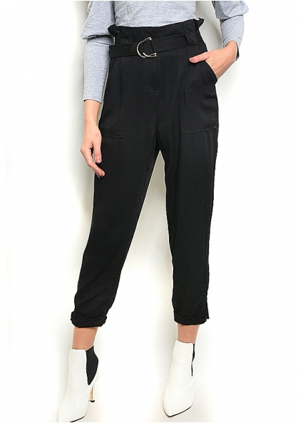 Clochard Trousers with Pockets - Black