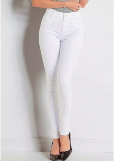 Sawary Super Lipo Legging Pants with Inner Cinther - White