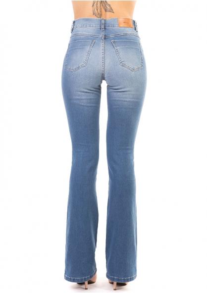 Sawary Boot Cut Stretch Jeans - Light Blue