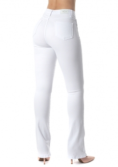Sawary Super Lipo Boot-cut Pants with Inner Cinther - White