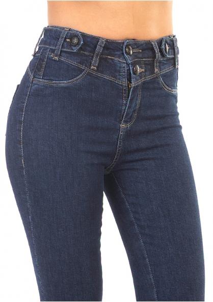 Sawary Skinny Jeans With Lycra Push Up Design - Indigo