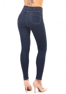 Sawary Calça Jeans Cintura Alta Com Lycra Push Up - Indigo