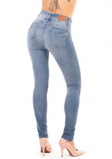 Sawary Calça Jeans Skinny Modela Bumbum com Bojo Removível - Azul Claro