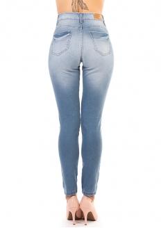 Sawary Calça Jeans Stretch Skinny 360 - Com Cinta Interna - Azul Claro