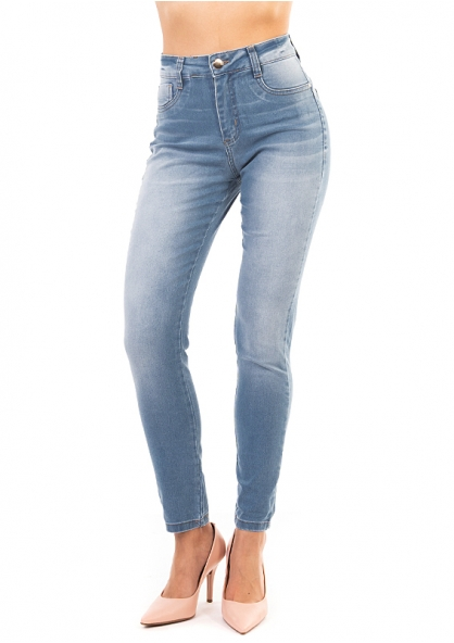 Sawary Stretch Skinny Pants with Inner Cinther 360 - Light Blue