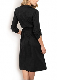 3/4 Sleeve Knee-length Dress - Dress