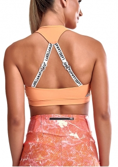 Labellamafia Running Day Support Top with Removable Pad - Orange