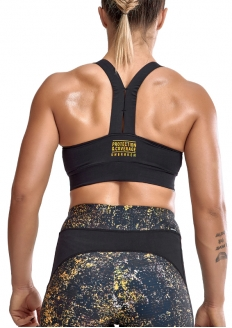 Labellamafia Unbroken Cross Training Yellow War Top - Black