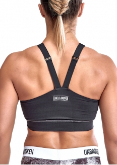 Labellamafia Cross Training Unbroken Padded Top - Charcoal