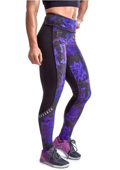 Labellamafia Cross Training Umbroken Legging Pants - Purple