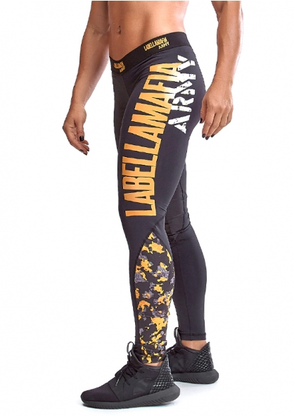 Labellamafia Army Legging Pants - Black