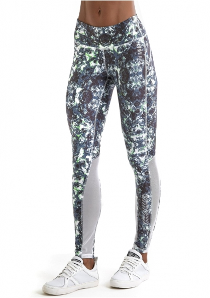 Labellamafia Run Away Legging - Grey / Green