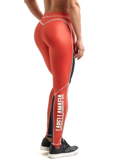 Labellamafia Bodybuilding Glossy Legging - Orange