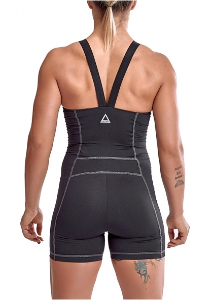 Labellamafia Cross Training Unbroken Romper - Black