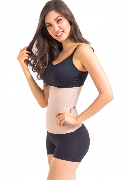 Esbelt Invisible Flexform Waist High Compression Shaper - Chocolate