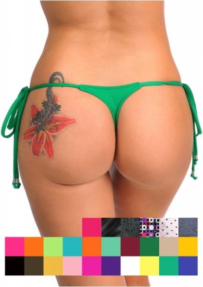 SANNA'S Swimwear Tie Loop Micro Thong Bottom