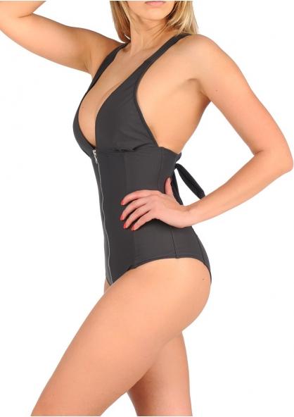 SANNA'S Swimwear Defined Silhouette Halter One Piece