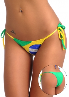 SANNA'S Swimwear Brasil Tie Loop Bikini Bottom