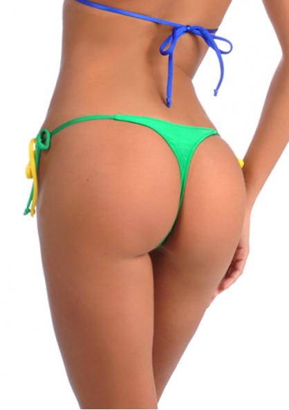 SANNA'S Swimwear Brasil Tie Loop Thong Bikini Bottom