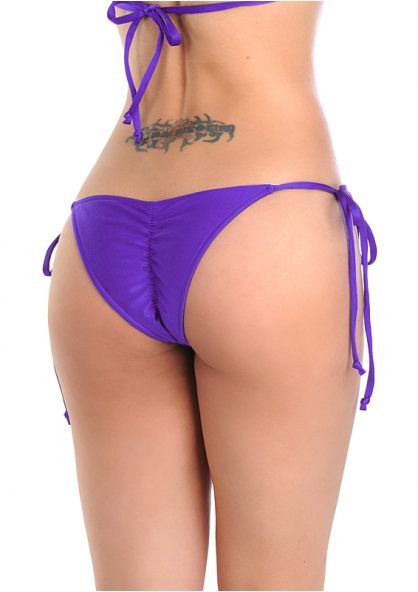 SANNA'S Swimwear Tie Loop Brazilian Cut Scrunch Bottom