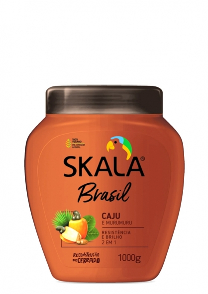 Skala Brasil Caju & Murumuru 2 in 1 Combing Cream + Moisturizing Hair Cream 1kg