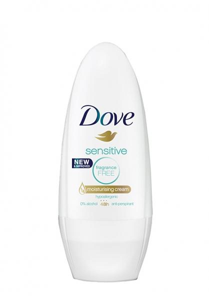 Dove Antiperspirant Deodorant Roll-on - Sensitive No Fragrance 50ml