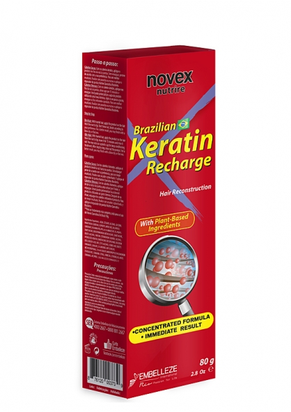 Novex Nutrire Brazilian Keratin Recharge Hair Reconstruction Treatment 80g