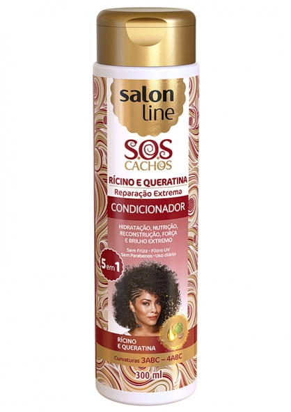 Salon Line S.O.S Cachos Rícino e Queratina Condicionador 300ml