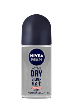 Nivea Men Antiperspirant Deodorant Roll-on - Active Dry Silver 50ml