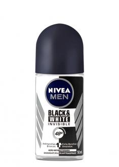 Nivea Men Antiperspirant Deodorant Roll-on - Black & White Invisible 50ml