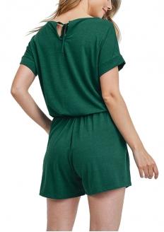 Short Sleeve Romper - Green
