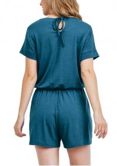 Short Sleeve Romper - Teal