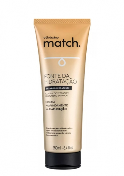 O Boticário Match Fountain Of Hydration Moisturizing Shampoo 250ml