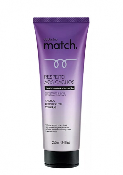 O Boticário Match Curl Respect Conditioner 250ml