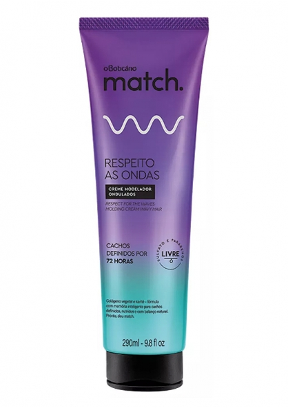 O Boticário Match Waves Respect Wavy Hair Molding Cream 290ml