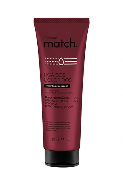 O Boticário Match Liga Dos Coloridos Color Hair Protection Shampoo 250ml